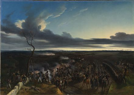 Vernet, Emile Jean Horace: The Battle of Montmirail. French Napoleonic War Fine Art Print.  (003476)